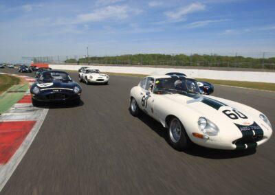 jaguar etypes on track