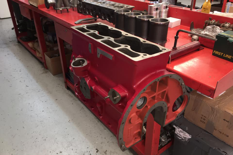 triumph tr4 engine block